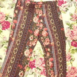 Forever 21 Floral Flare Pants